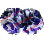 Помпоны для черлидинга – белый и фиолетовый цвета